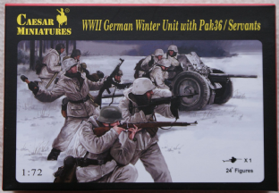 Caesar Miniatures 1/72 CMH097 German Winter Infantry with 37mm Pak 36  (WW2)